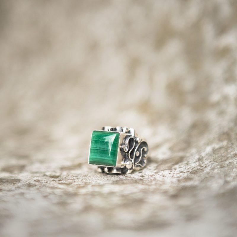 Malachite Ring | Belle Femme