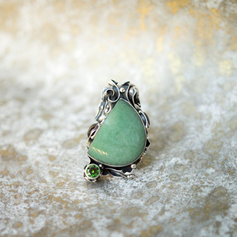 Green Agate Pendant | Belle Femme