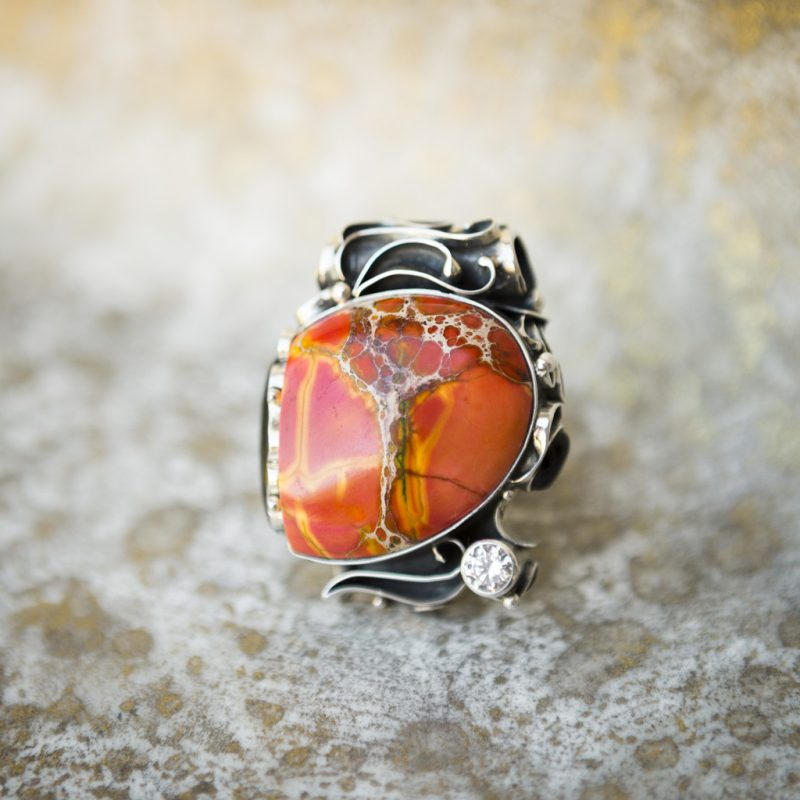 Red Watercolor Jasper Pendant | Belle Femme