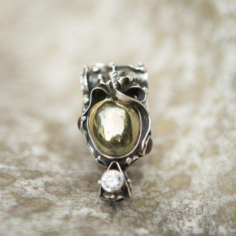 Pyrite Pendant | Belle Femme