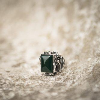 Green Onyx Ring | Belle Femme