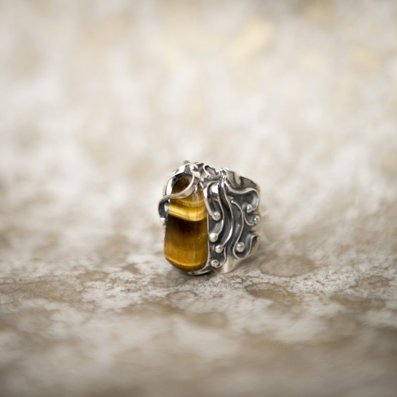 Tiger's Eye Ring | Belle Femme