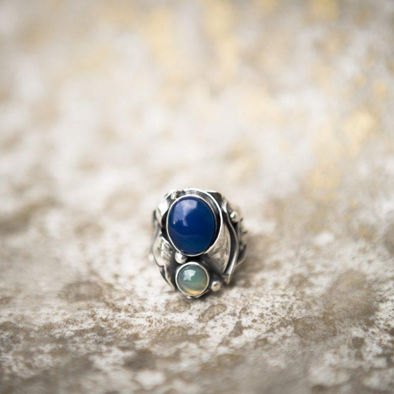 Blue Agate Ring | Belle Femme