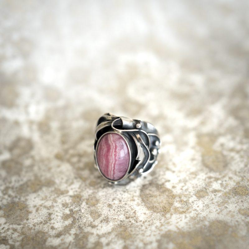 Rhodocrosite Ring
