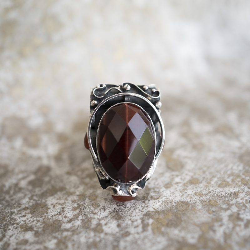 Faceted Tiger's Eye Pendant
