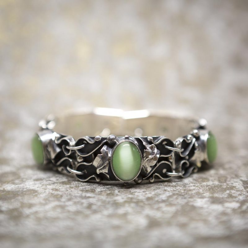 Green Cat's Eye Bracelet