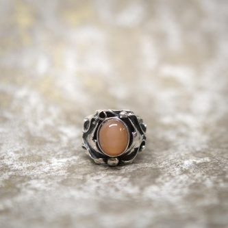 Rose Moonstone Ring